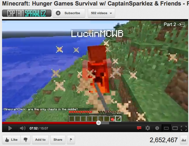 Minecraft Hunger Games Survival w/ Captain Sparklez & Friends